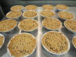 Apple crumb pies made with our pie fill