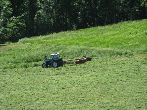 Mowing to make baleage 6/2/11