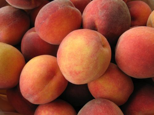 Mmmm Our Organic Peaches!