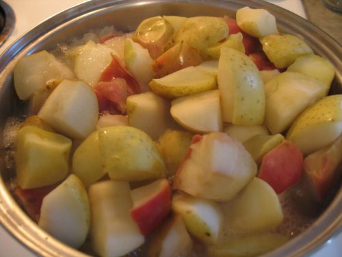 Mmm cooking apples for applesauce!