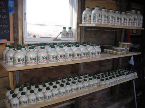 Stocked Shelves before Maple Weekend