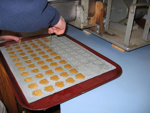 Pouring into candy molds