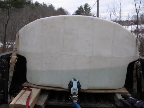 Truck tank with sap in it