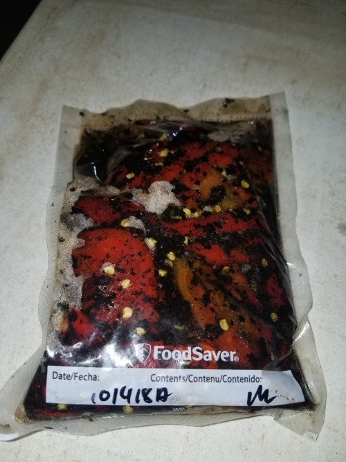 Frozen Fire Roasted Peppers (Hot), 1lb