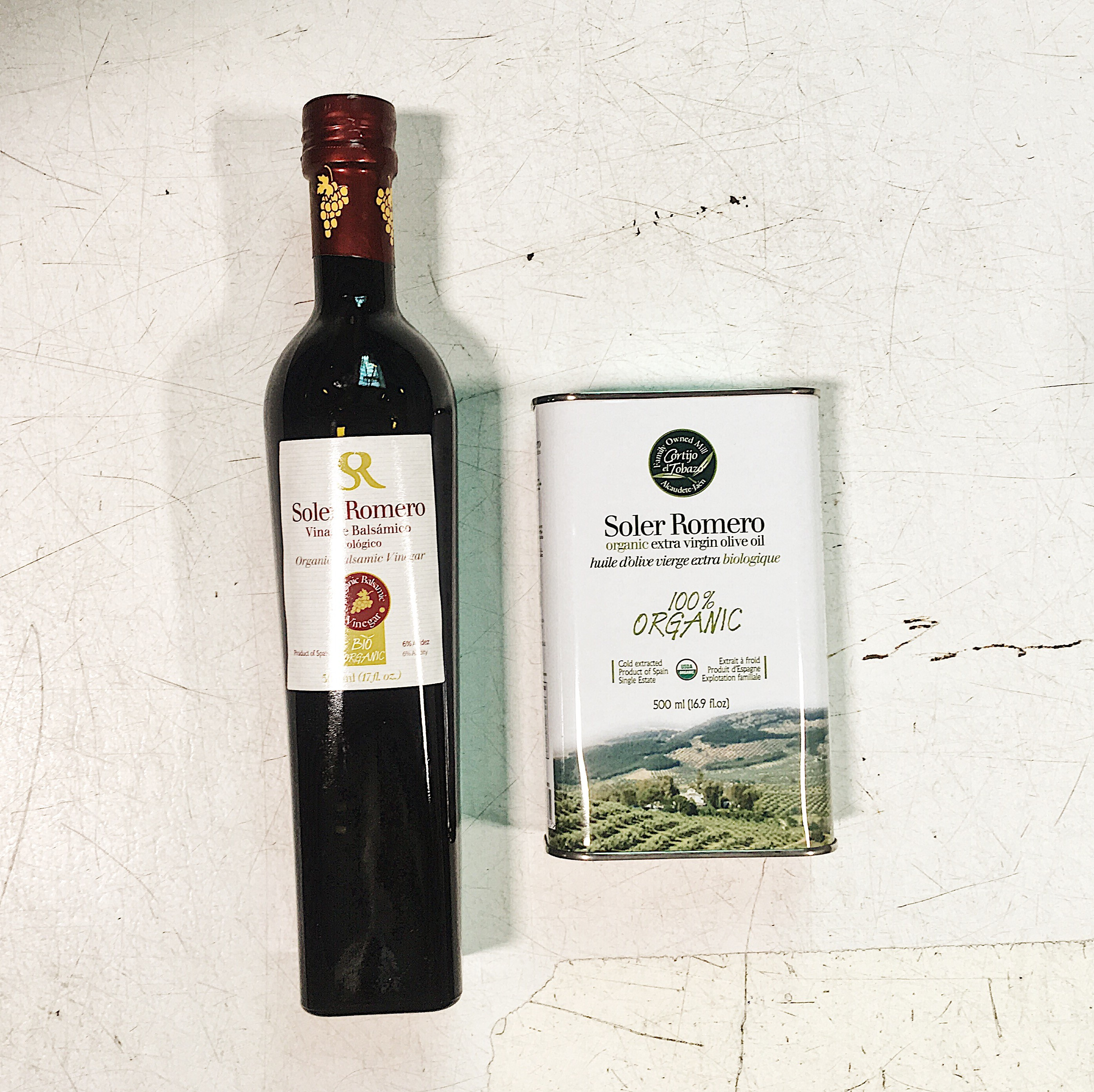 Olive Oil and Balsamic Vinegar from Soler Romero