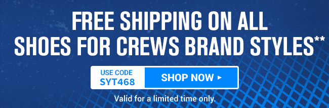 Free Shipping on Shoes For Crews Brand Styles* use code SYT468