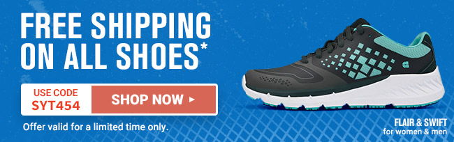 Free Shipping on All Shoes* use code SYT454
