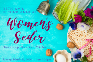 CANCELED: Second Annual Women's Seder @ Beth Am Synagogue