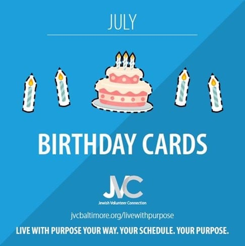 Live With Purpose July Birthday Cards Jewish Volunteer Connection