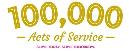 100,000 Acts of Service. Serve Today. Serve Tomorrow.