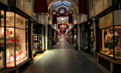 Shopping gallery during Christmas