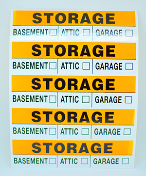 Moving, Storage, & Packing Supplies at YourSpace Storage in Maryland: Storage Labels