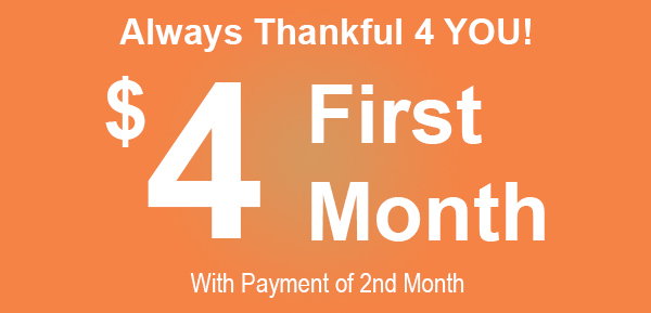 Thankful 4 You - YourSpace Self Storage November Rent Promotion