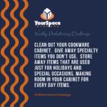 Drinkware cabinet decluttering challenge for YourSpace Storage