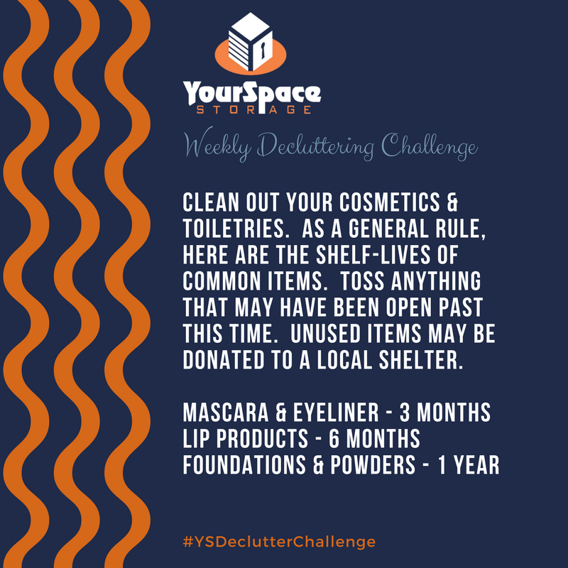 YourSpace Storage Decluttering Challenge 2.5.2018 - Small Cosmetics Organization