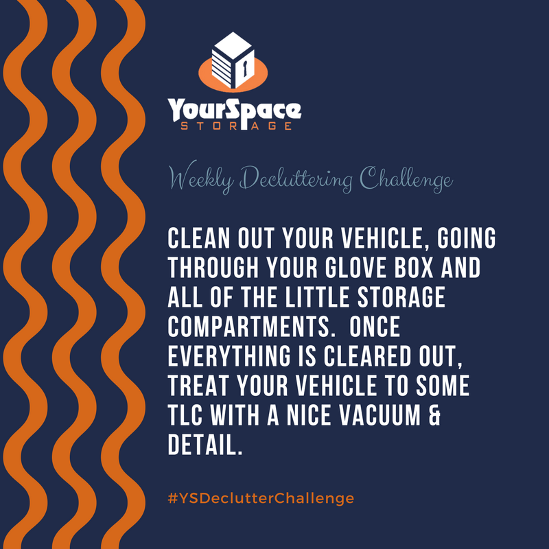 YourSpace Storage Decluttering Challenge for March 5: Vehicle Cleaning & Organization