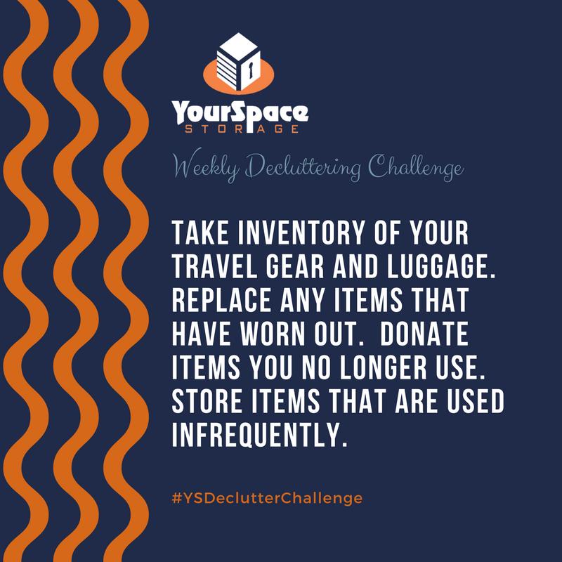 YourSpace Storage Decluttering Challenge - Travel Gear