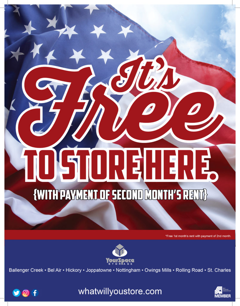 YourSpace Storage July Promotion - Free to Store Here in July with Paid 2nd Month