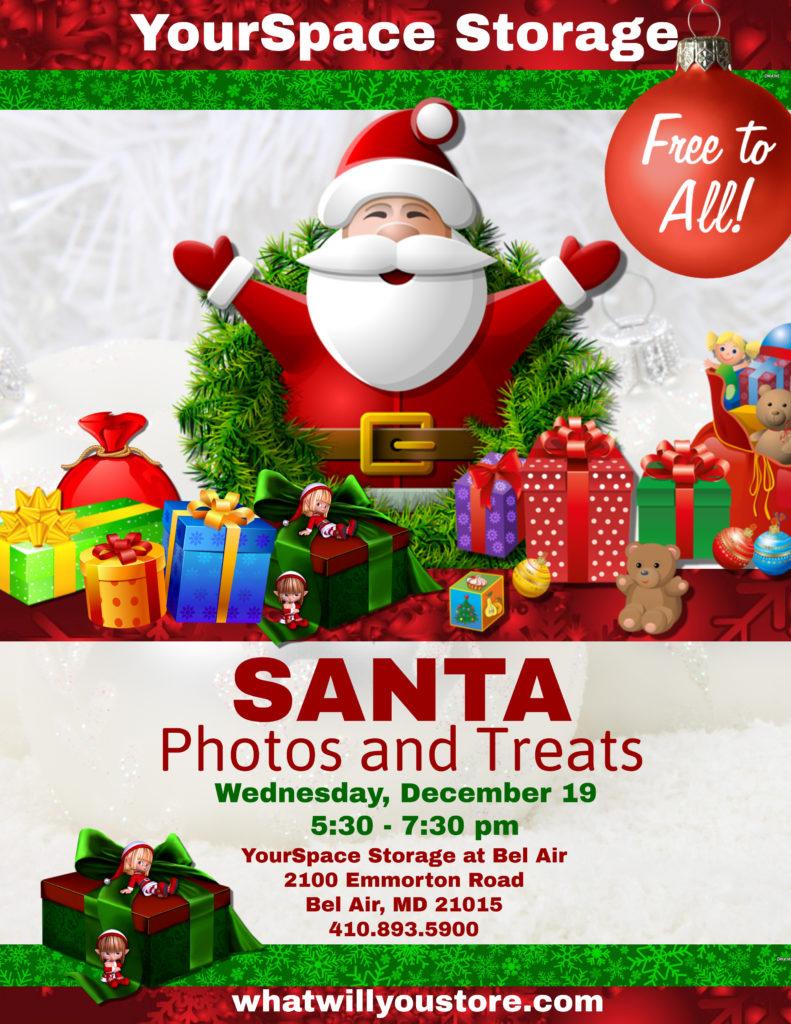 Free Photos & Treats with Santa - Bel Air