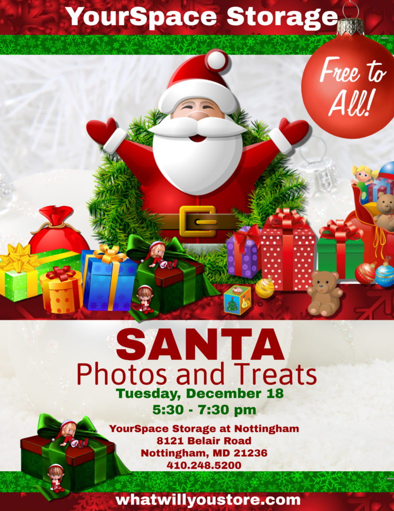 Santa Photos at YourSpace Storage at Nottingham