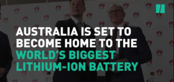 Tesla to build world's largest lithium-ion battery in South Australia
