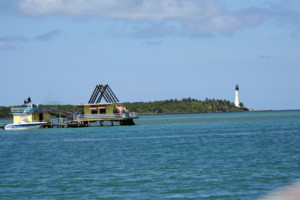 Stiltsville and light house Florida