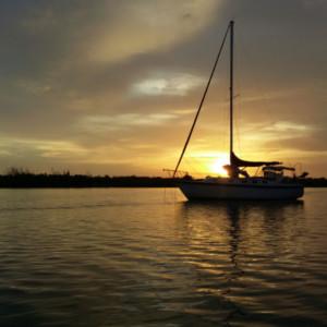 Brandy Girl anchored Bay of Biscayne Florida
