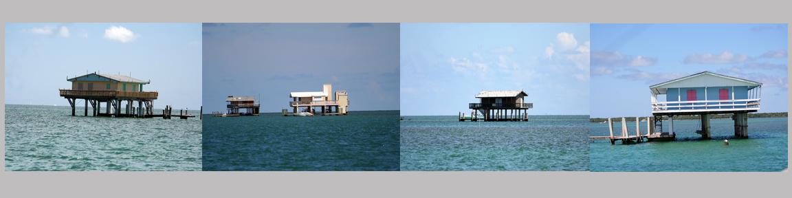 Florida Stiltsville houses