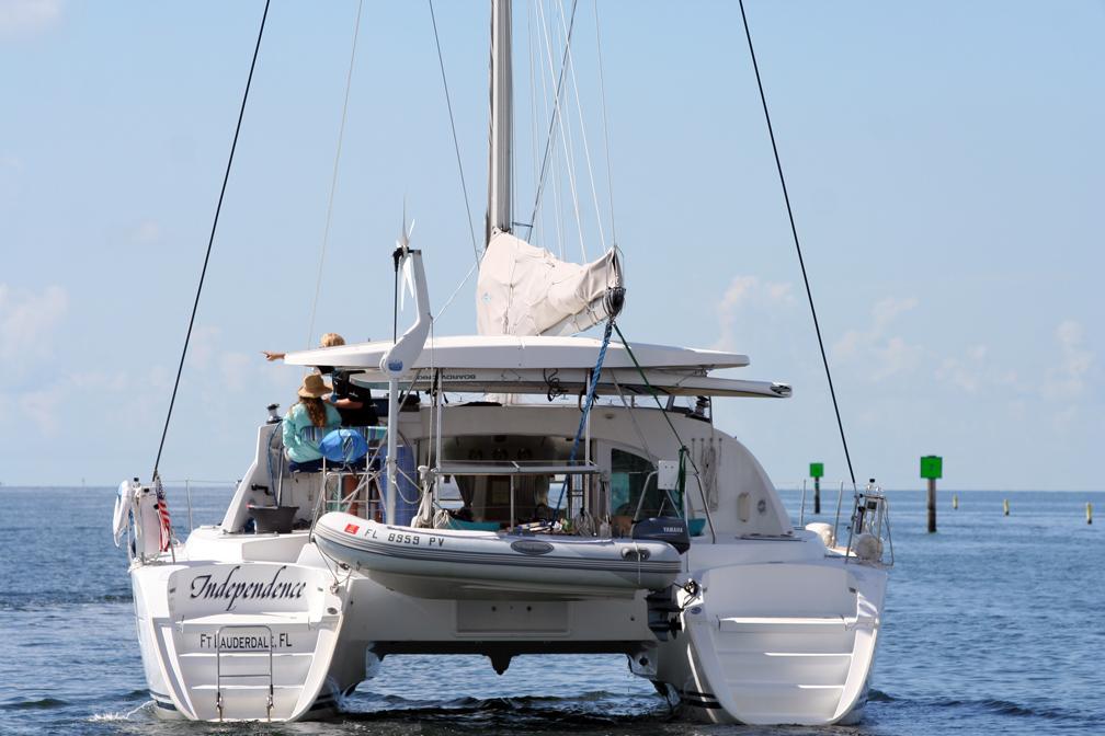 Leaving Marina Coconut Grove Florida