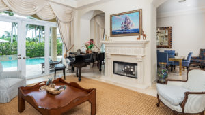 waterfront property living room