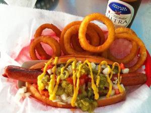 Dune Dog cheap eats hot dog