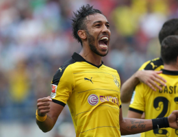 Borussia Dortmund forward Pierre Emerick Aubameyang