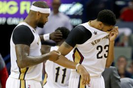 Pelicans bigs Anthony Davis and DeMarcus Cousins