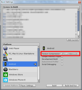 unity-android-build-settings
