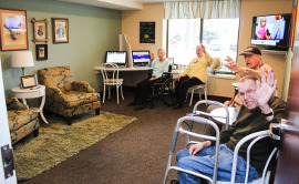 Church of Christ Assisted Living - Media Room
