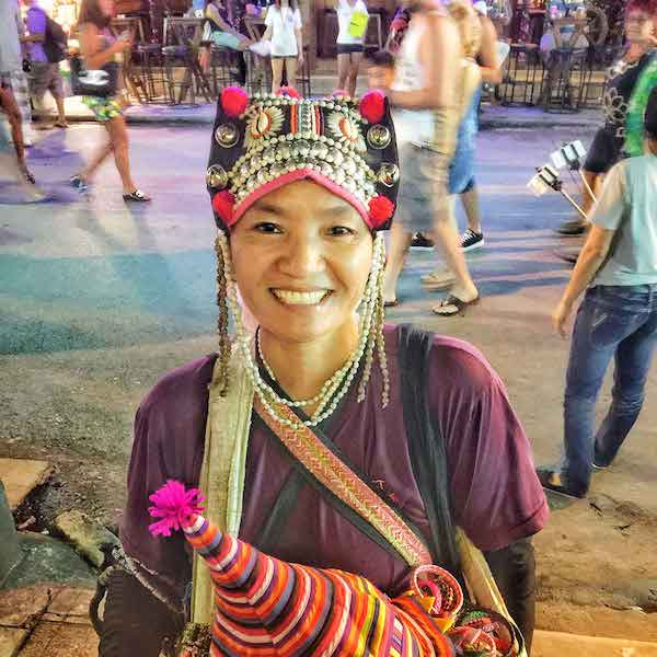 Image showing a happy woman in Pa Tong, Thailand