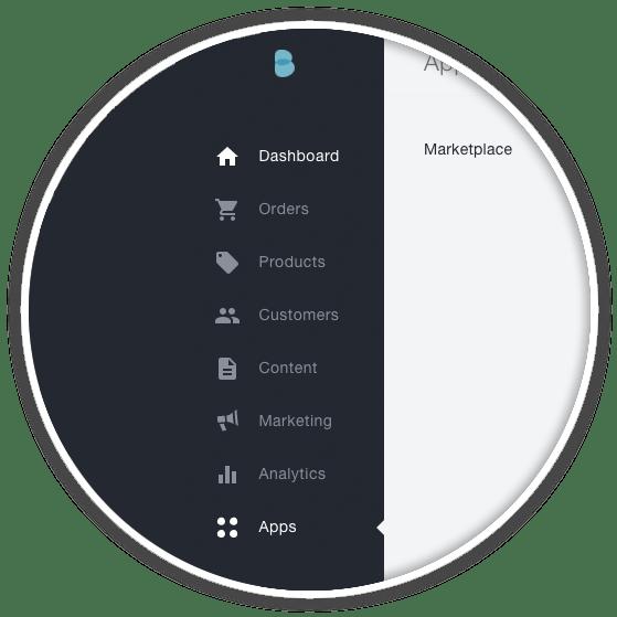 bigcommerce admin user left sidebar