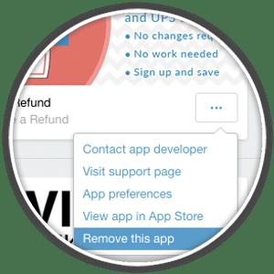 uninstall shopify app