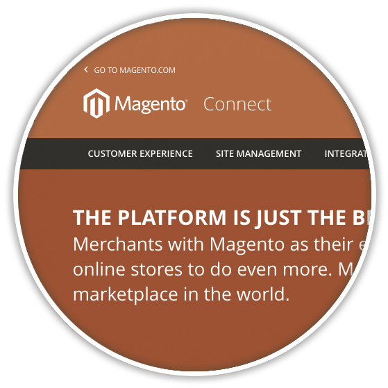 magento commerce magentoconnect homepage