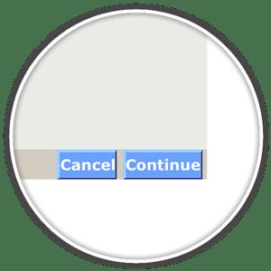 continue button enroll ups online billing