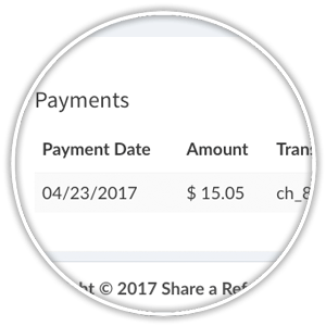 payment detail information on invoice