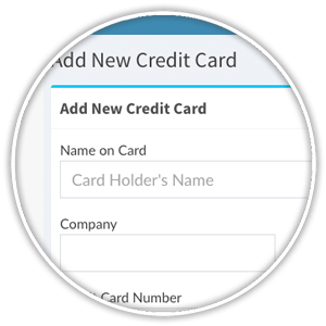 store a new credit card