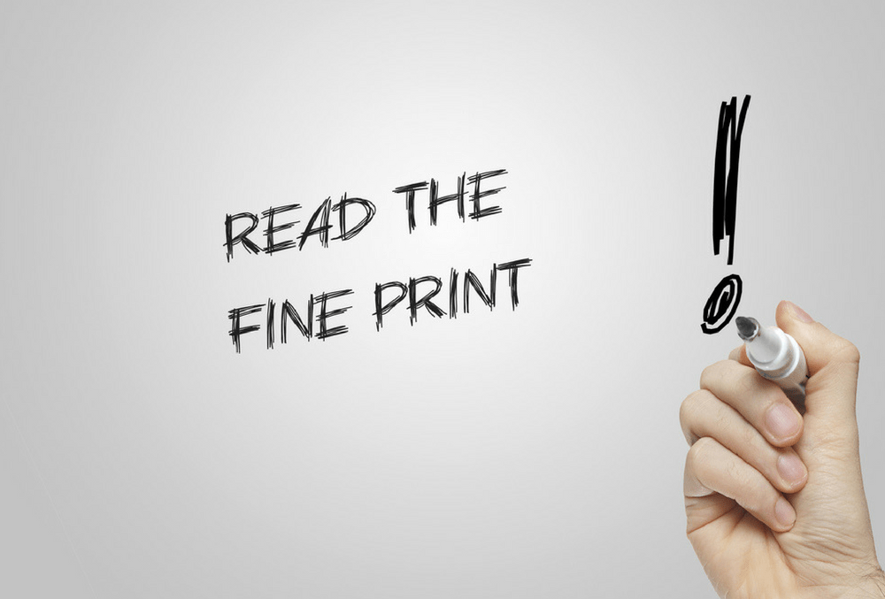 Read the fine print of carrier contracts and agreements