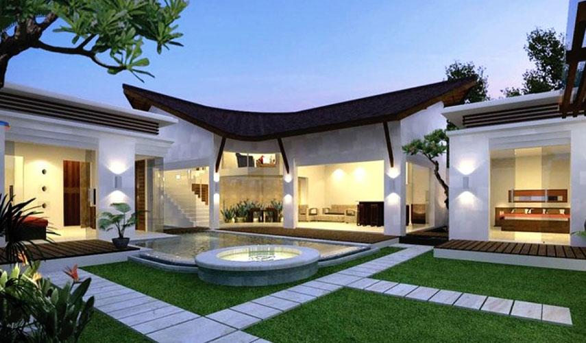 Villa élégante dans un style moderne balinais