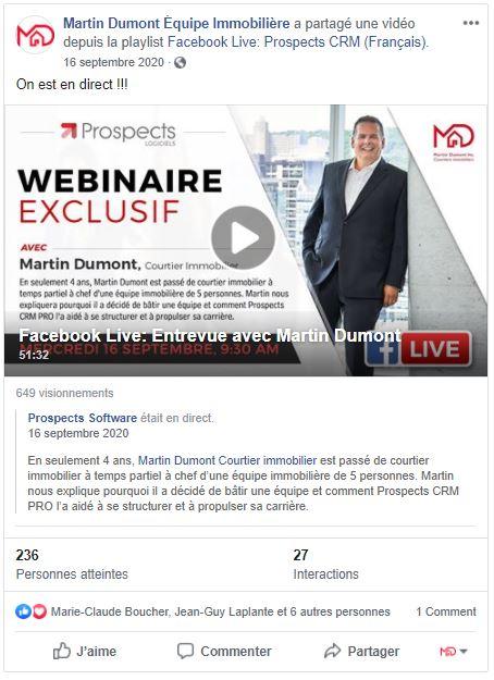 Entrevue Martin Dumont