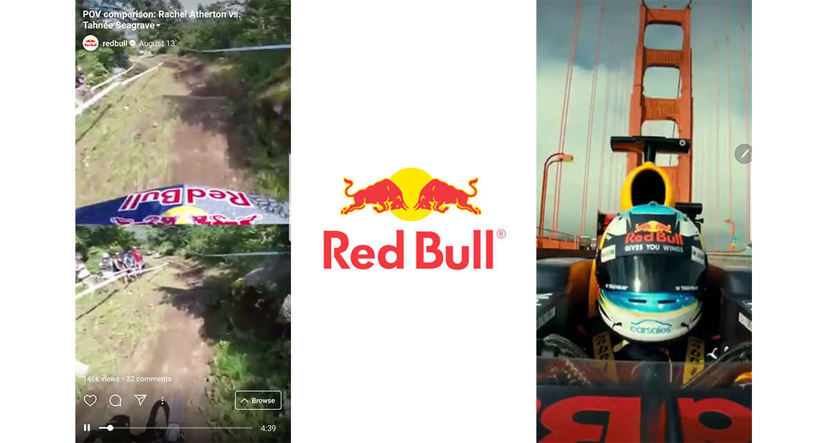 The official Red Bull IGTV channel contains a collection of action-packed, thrill-seeking videos.