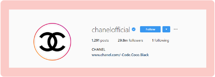 Chanel Official Instagram Profile