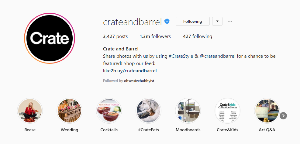 Source: Crate and Barrel on Instagram