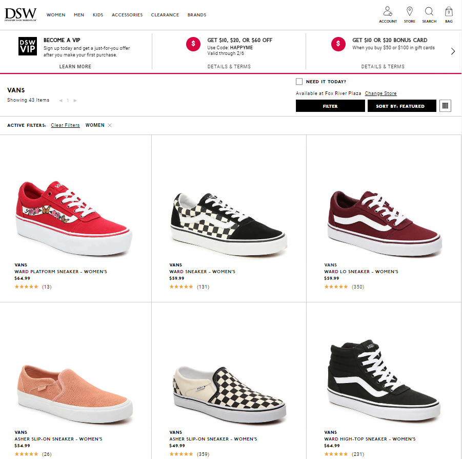 DSW-landing-pages