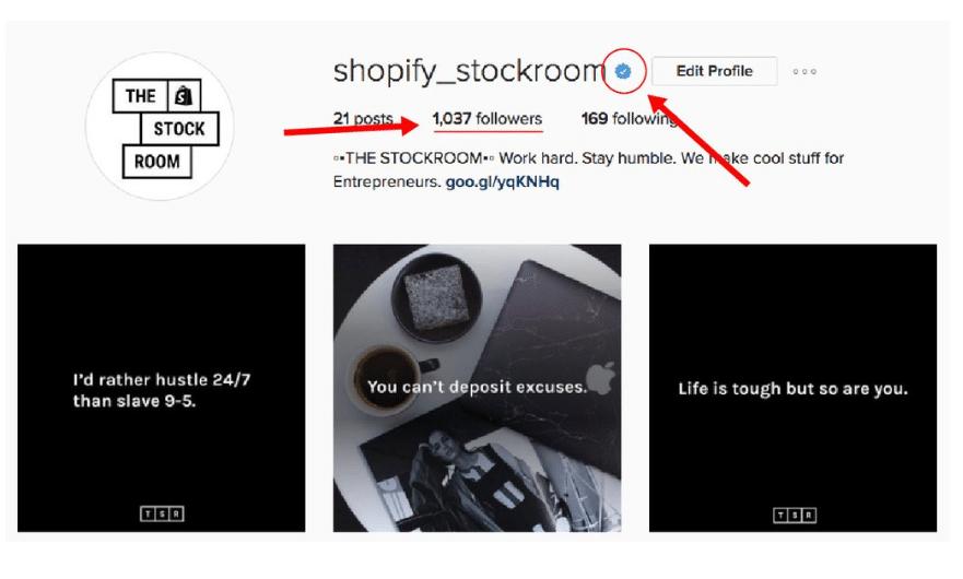 stockroom verified on instagram